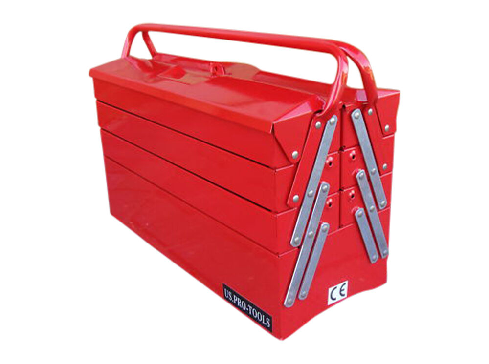 us pro tools portable cantilever tool chest tool box ebay. Black Bedroom Furniture Sets. Home Design Ideas