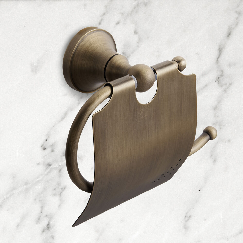 Antique Brass Wall Mounted Toilet Tissue Roll Holder