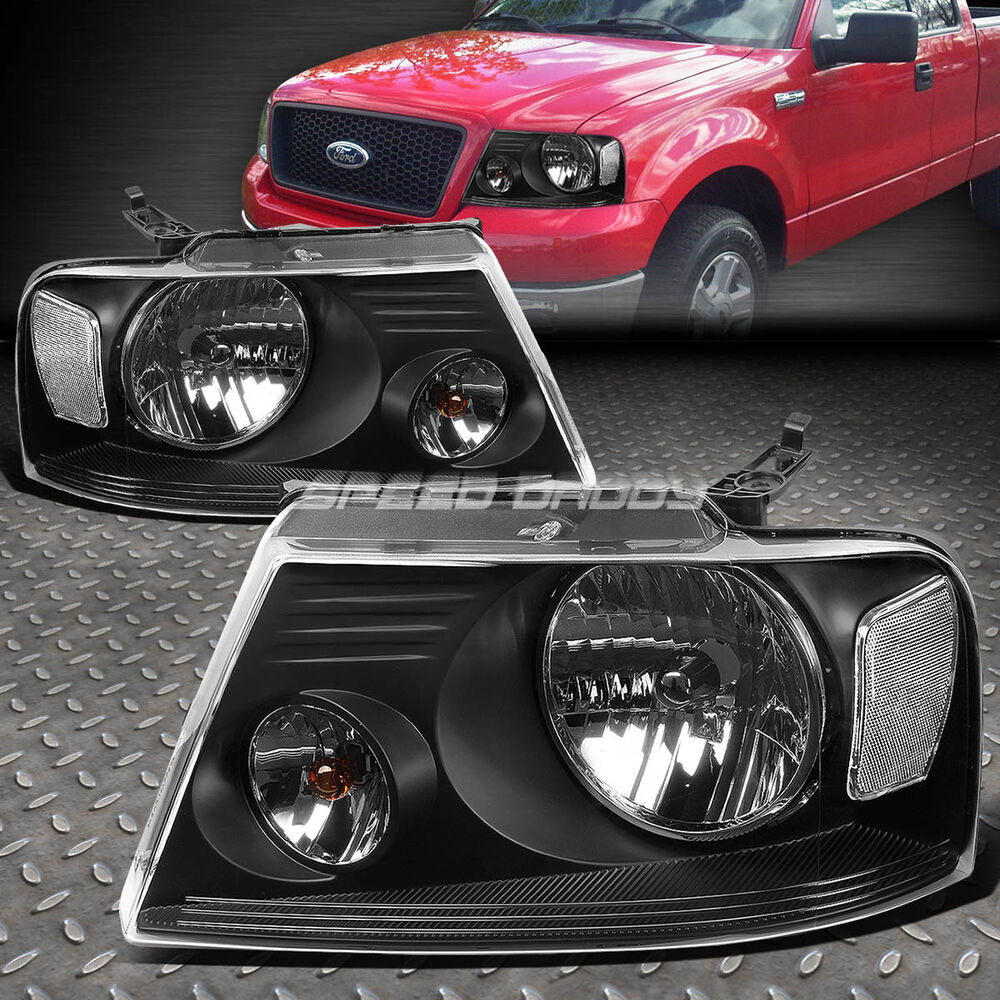 99 F150 Black: FOR 04-08 F150 06-08 MARK LT BLACK HOUSING LENS HEADLIGHT