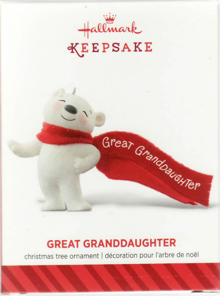 2014  u0026quot great granddaughter u0026quot  hallmark keepsake christmas ornament