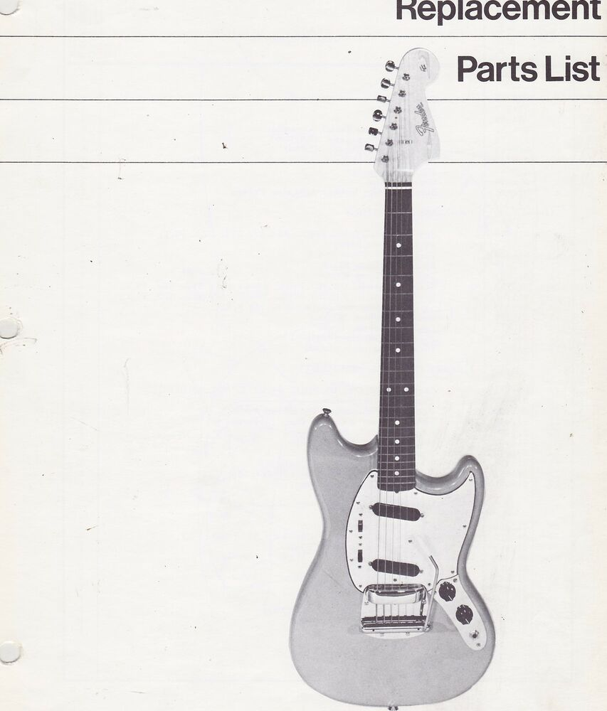 misc 1192 1970s fender mustang guitar replacement parts list schematics ebay. Black Bedroom Furniture Sets. Home Design Ideas
