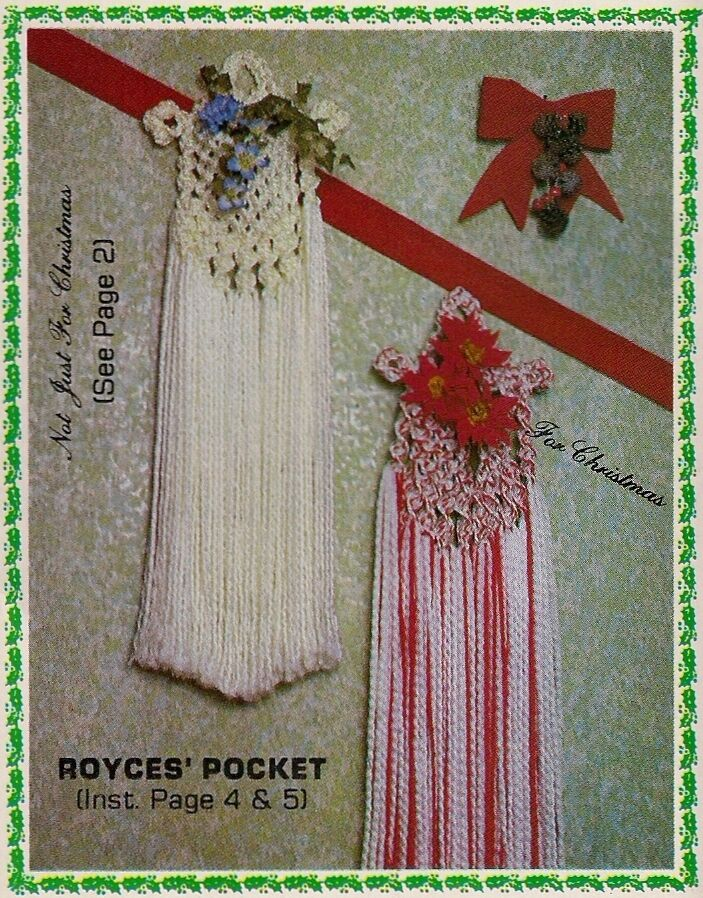 Holiday pocket wall hanging patterns knot just for
