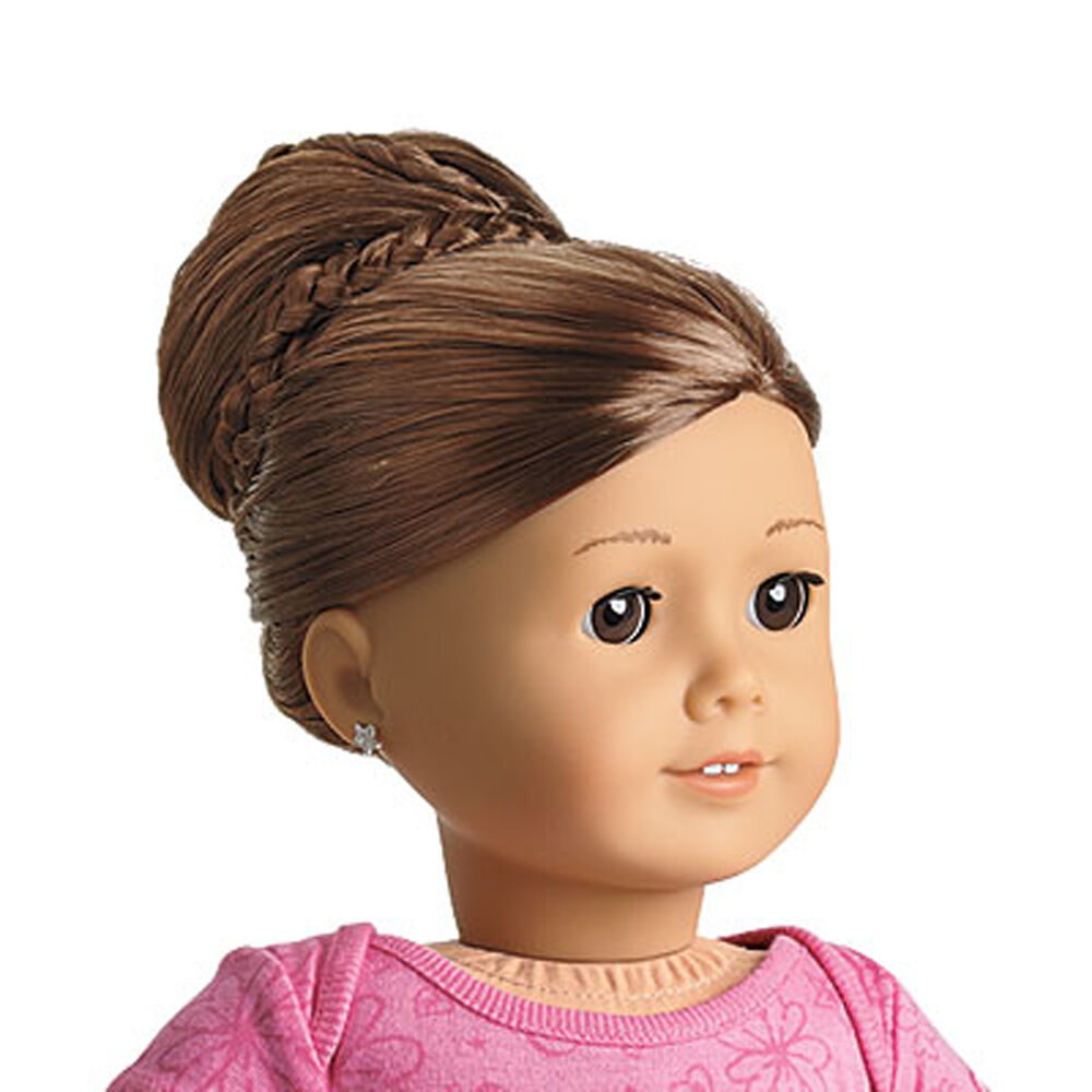 ag hair styles american my ag chic bun brown for 18 quot dolls extension 1720