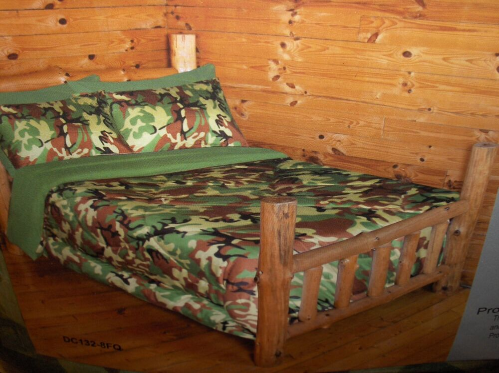 Camo Army Military Pattern Reversible-1-Piece Queen/Full