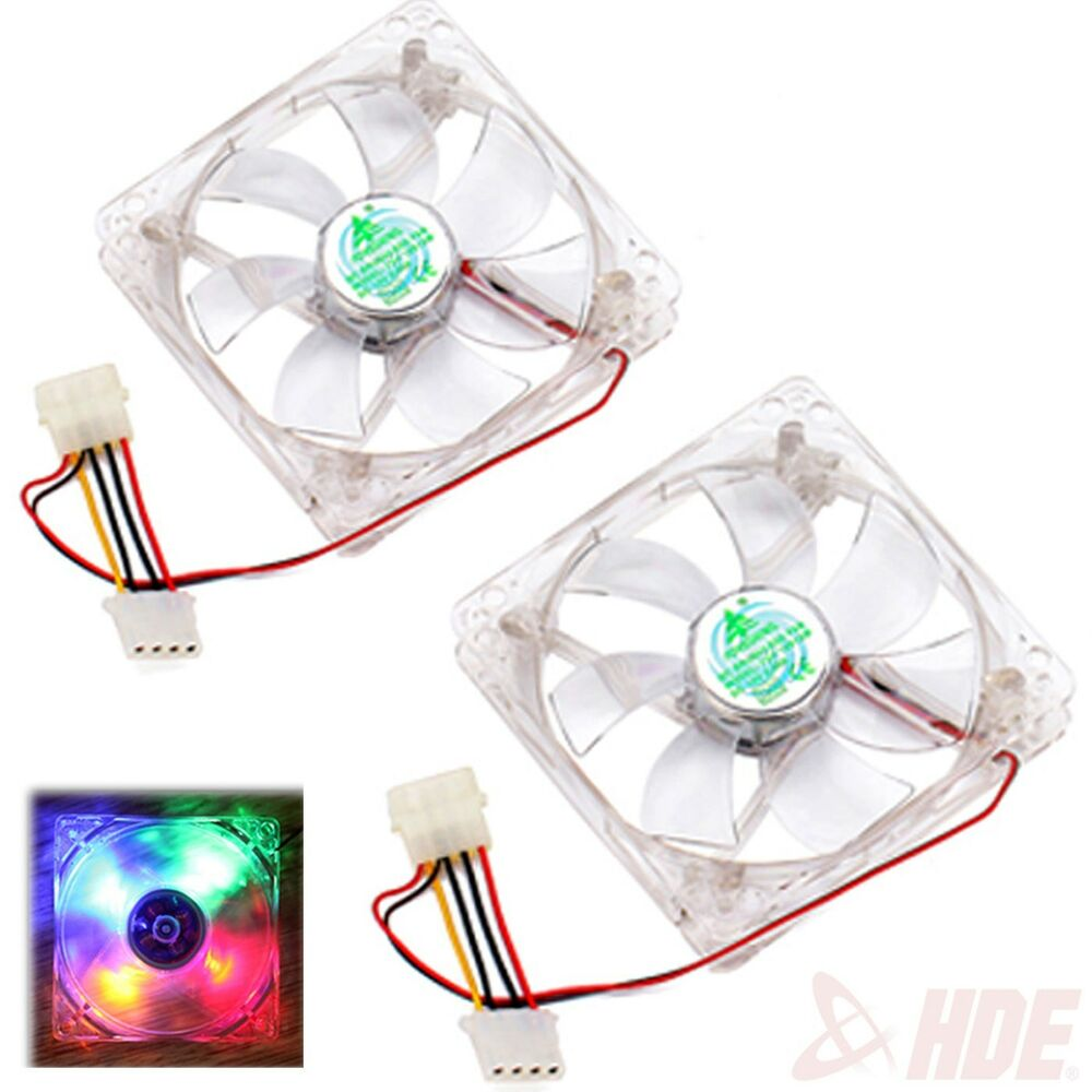 12V 4Pin 120mm 4 LED Multi Color Silent PC Computer CPU ...