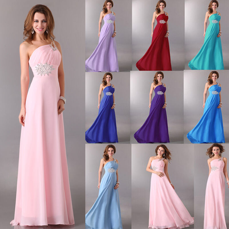 Womens party ball gown wedding bridesmaid formal long maxi for Ebay wedding bridesmaid dresses