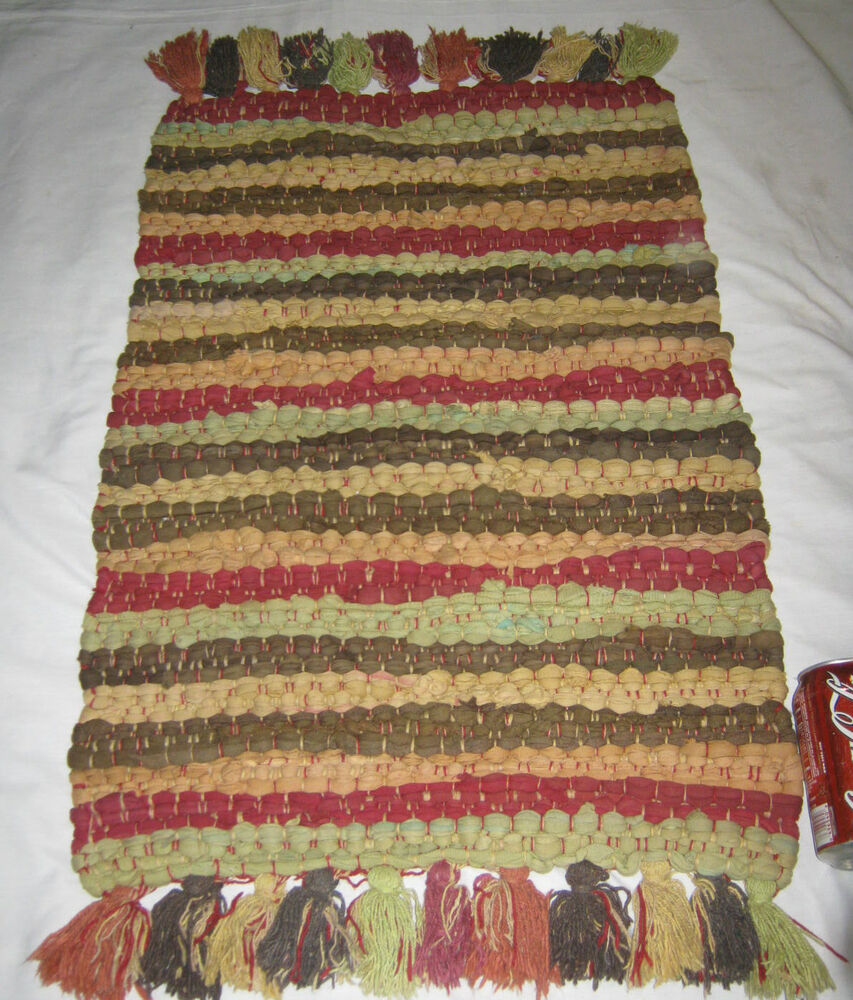 Antique 1 Colorful Woven Textile Wall Art Rag Rug Home
