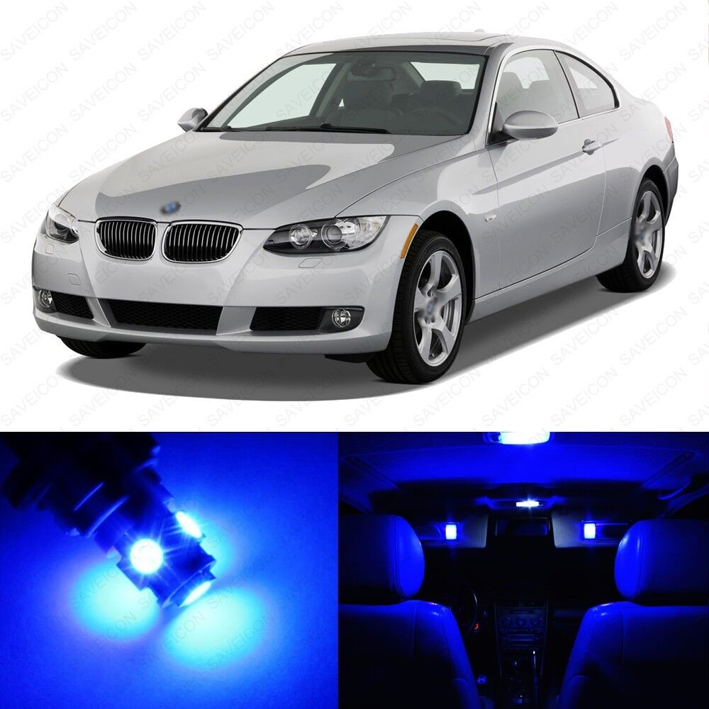 14 X Blue LED Interior Light Package For 2006 -2011 BMW 3