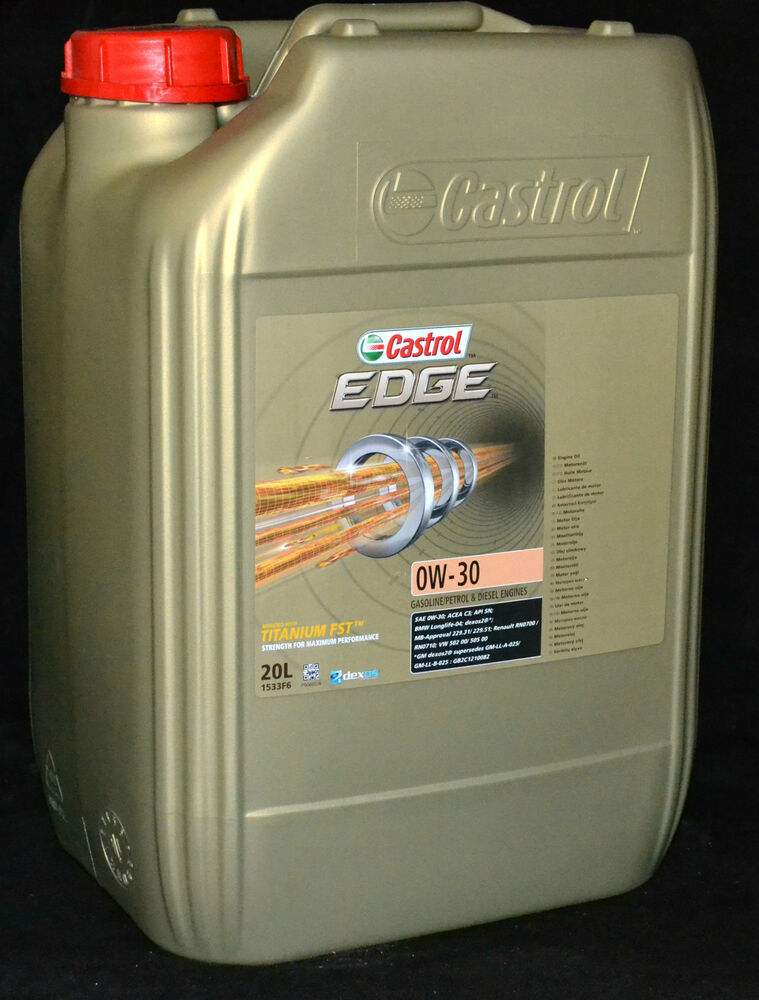 20 liter castrol edge fst titanium 0w 30 motor l 0w30. Black Bedroom Furniture Sets. Home Design Ideas