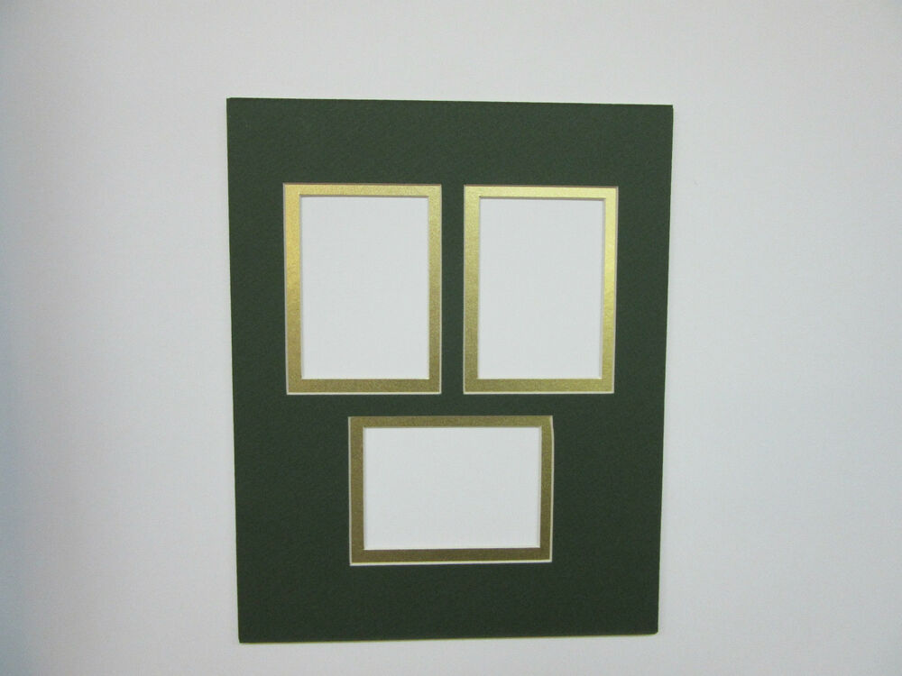 Picture Frame Mat 8x10 for Three ACEO Cards Rectangle ...