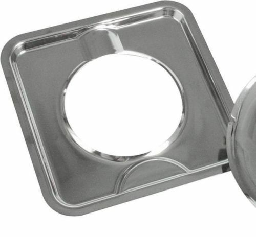 CAMCO 00373 7 3 4 SQUARE CHROME GAS OVEN STOVE DRIP PAN