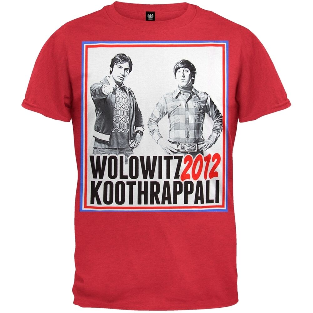big bang theory wolowitz koothrappali 2012 soft t shirt. Black Bedroom Furniture Sets. Home Design Ideas