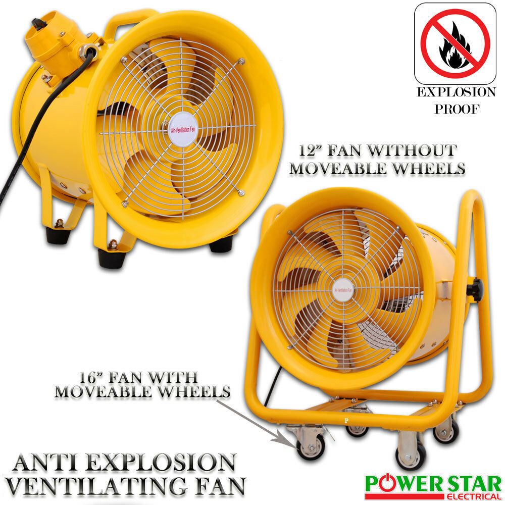 Industrial Axial Fans : Atex portable ventilator axial fan ducting blower metal