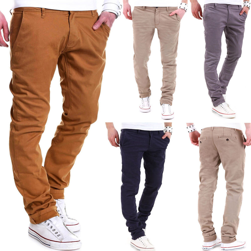 behype herren chinohose slim stil chino hose jeans schwarz braun navy beige neu ebay. Black Bedroom Furniture Sets. Home Design Ideas