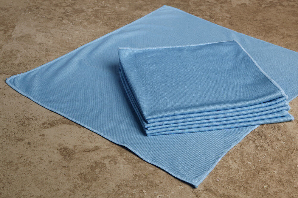 Blue microfiber lint free window cleaning cloths new 3 - Best cloth for cleaning windows ...