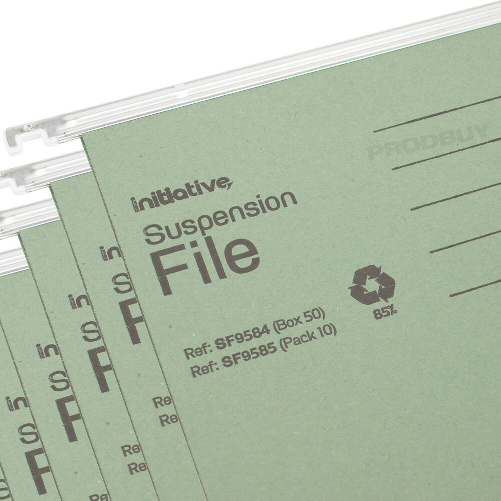 25 x green a4 hanging suspension files tabs inserts filing for Suspension fille