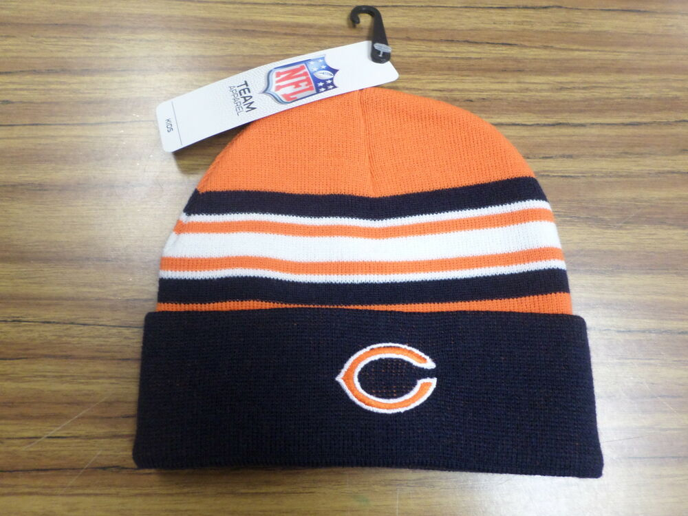 nfl chicago bears team apparel toddler 2 4 winter hat new. Black Bedroom Furniture Sets. Home Design Ideas