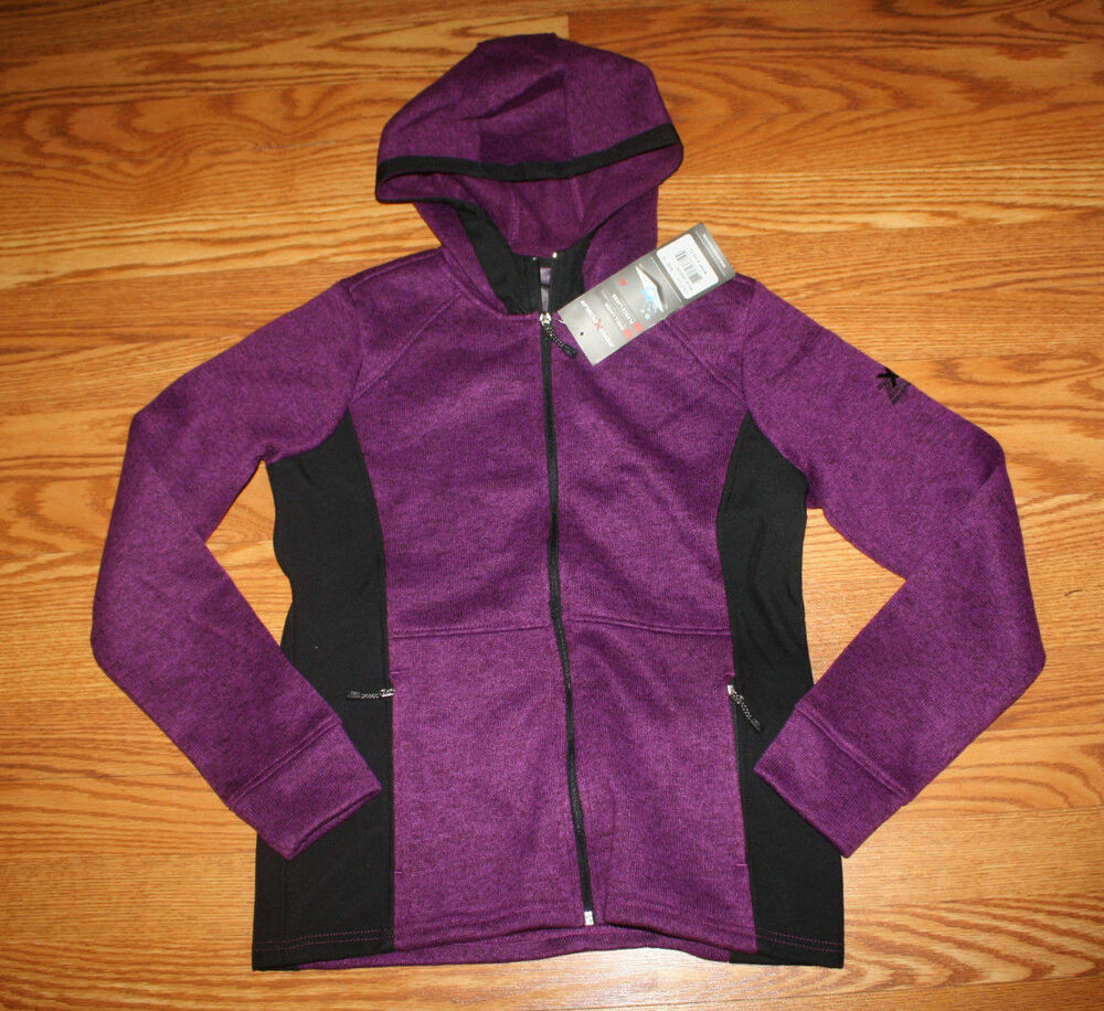 Nwt Womens Zeroxposur Purple Knit Fleece Performance Full