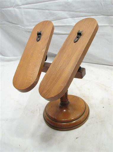 Exhibition Stand Vintage : Rare antique wooden boutique store shoe display stand rack