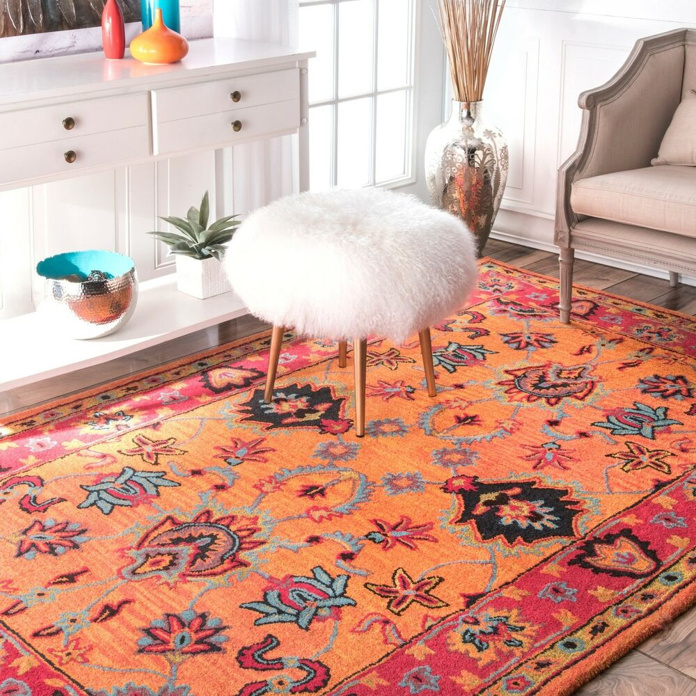 Nuloom handmade overdyed traditional wool rug 5 39 x 8 39 ebay for Custom made area rugs
