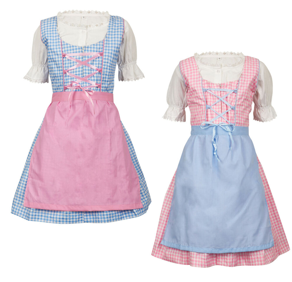 zartkariertes 3 teiliges kinder dirndl sonja ms trachten. Black Bedroom Furniture Sets. Home Design Ideas