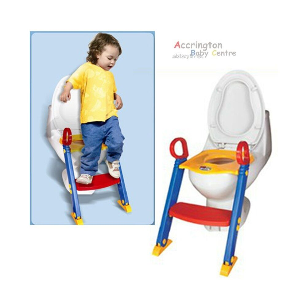 Baby Toddler Toilet Trainer Seat Potty Step Ladder Stool