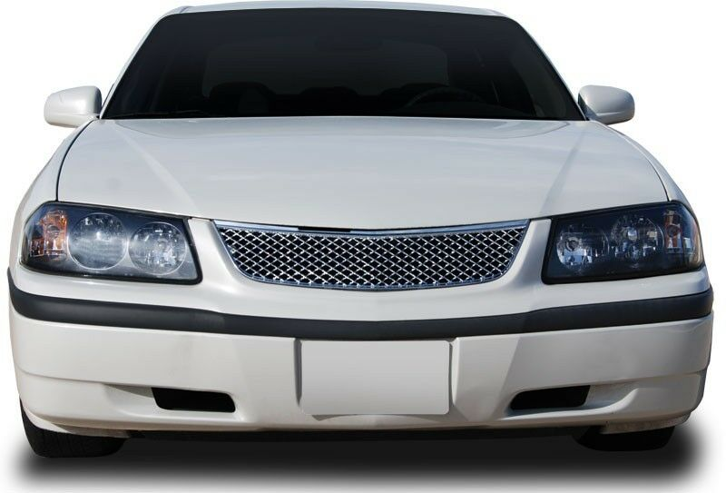 fits chevy impala 2000 2005 abs chrome mesh style replacement grille ebay
