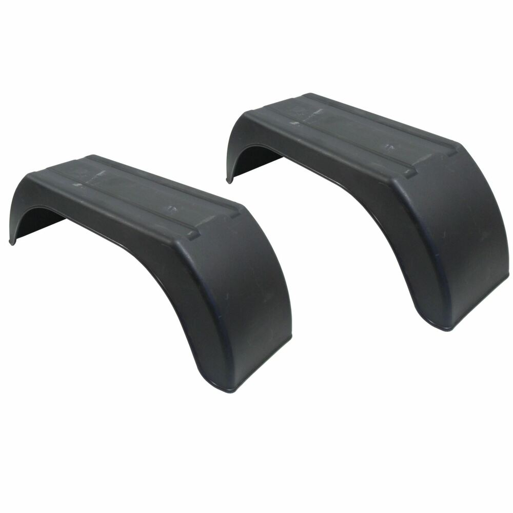 Plastic Fenders For Trailers : Mudguard for trailer wheels quot plastic pair wing