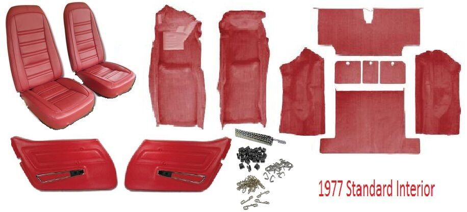 1977 Corvette Interior Package Carpet Seat Covers And