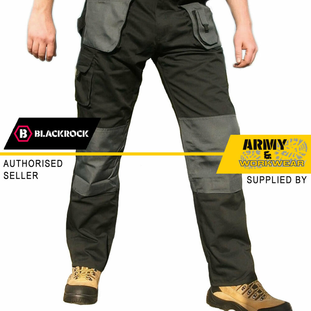 Blackrock Baratec Work Wear Trousers Multi Pocket Trade ...