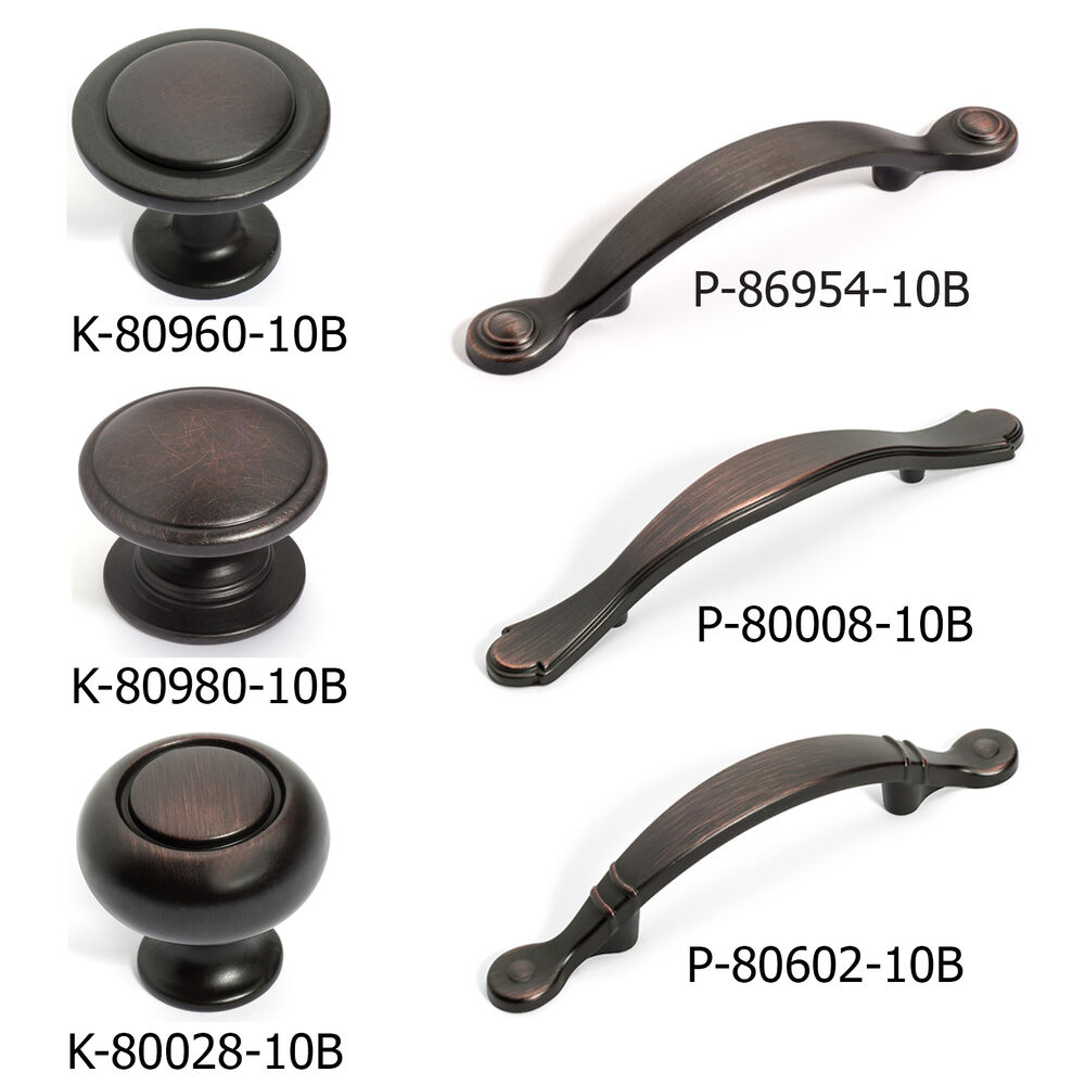 Kitchen Knobs And Pulls For Cabinets: Oil Rubbed Bronze Cabinet Hardware Knobs And Pulls 80960