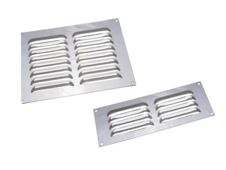 Stainless Steel Air Grille : Stainless steel air vent louvred grill cover ventilation
