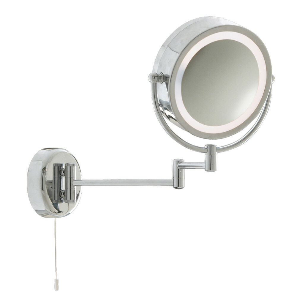 ... MAGNIFYING BATHROOM MIRROR WALL LIGHT WITH ADJUSTABLE ARMS : eBay