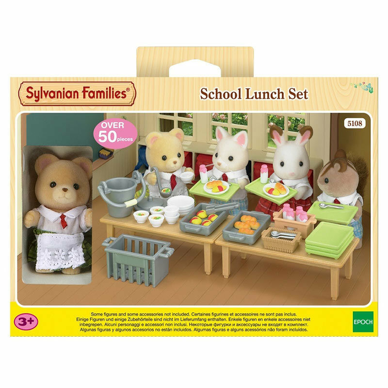 sylvanian families country kitchen sylvanian families school lunch set 5108 ebay 5965