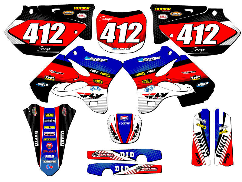 2002 2003 2004 yz 125 250 graphics kit yamaha yz125 yz250 deco decals stickers ebay