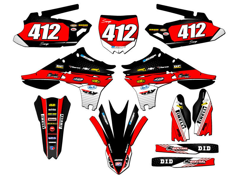 2010 2011 2012 2013 yz 450f graphics kit yz450f yamaha for Sticker deco