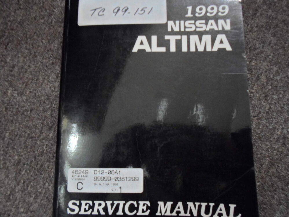 1999 nissan altima service shop repair manual workshop. Black Bedroom Furniture Sets. Home Design Ideas