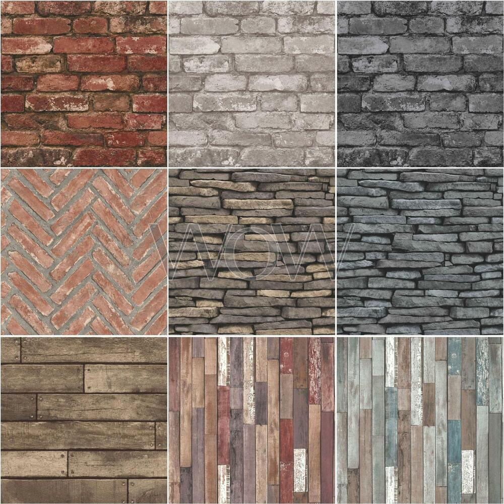 Cornish Stone Effect Wallpaper From B Q: RUSTIC EFFECTS WALLPAPER BY FINE DÉCOR