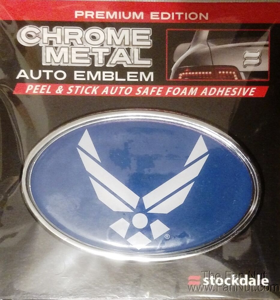 United Car Finance United Car Finance: Air Force SD Ultra Premium Metal Chrome Car Auto Emblem