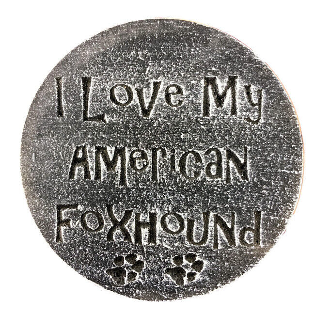 plastic american foxhound plaque mold garden ornament. Black Bedroom Furniture Sets. Home Design Ideas