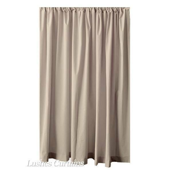 192 inch h beige velvet curtain long panel extra large high tall stagging drapes ebay. Black Bedroom Furniture Sets. Home Design Ideas