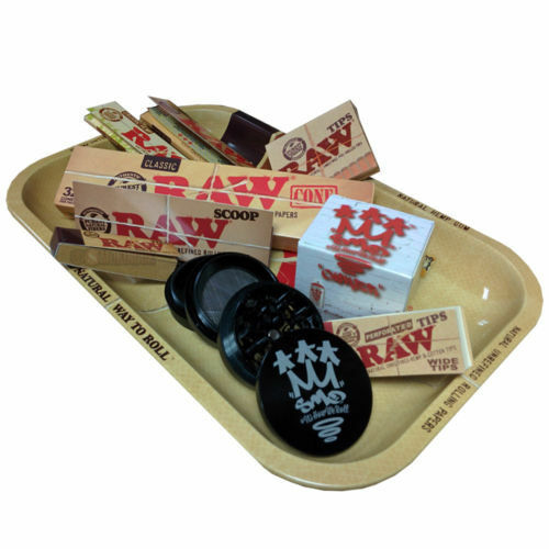 Raw Small Rolling Tray And Shredder Gift Sets By Smo King