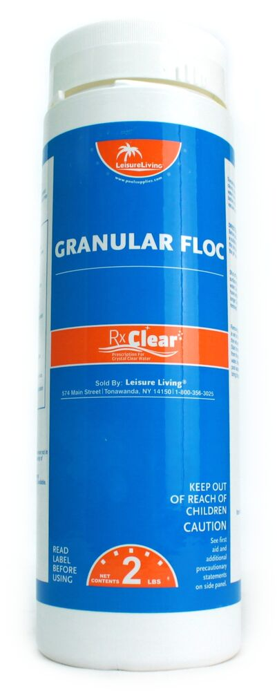 Rx Clear Swimming Pool Super Floc Clarifier Chemical 2 Lbs Ebay