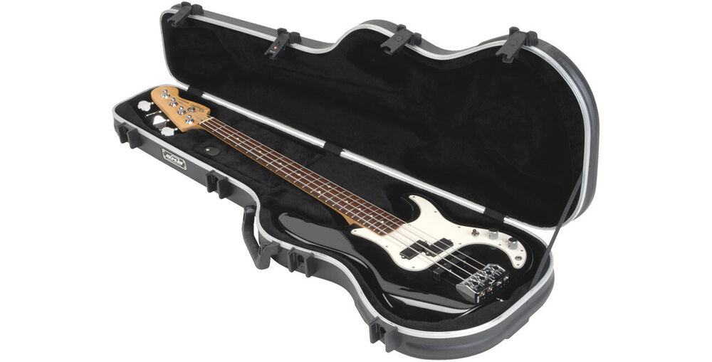 skb shaped electric bass guitar hardshell hard case fits fender jazz p ebay. Black Bedroom Furniture Sets. Home Design Ideas