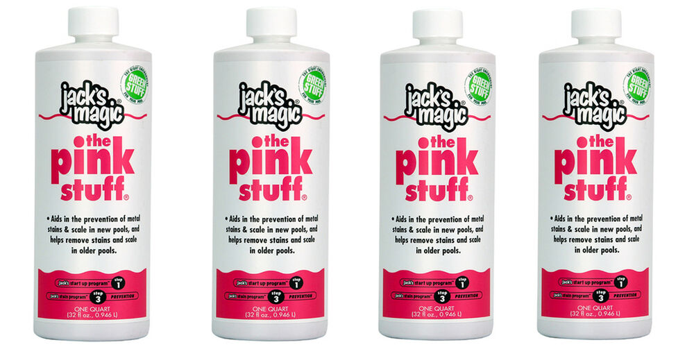 4 Pack Jack S Magic Pink Stuff Metal Solution For Swimming