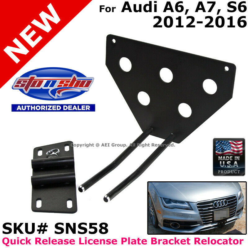 STO N SHO Audi A6 A7 12-16 Quick Release License Plate