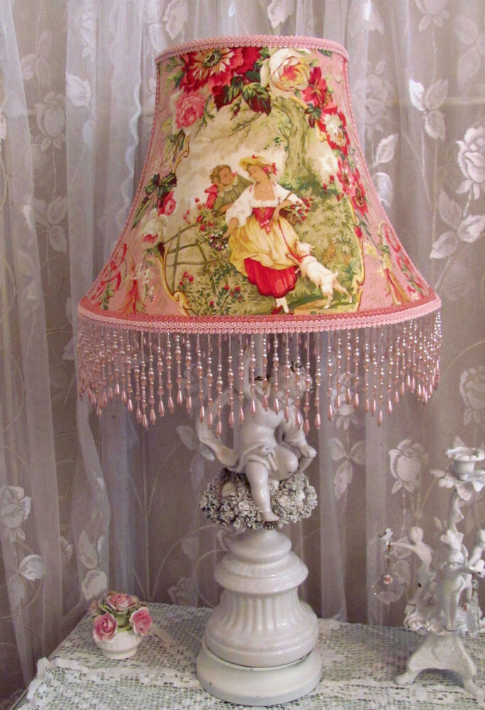 12 Quot Lamp Shade French Fragonard Toile Chic Pink Richloom