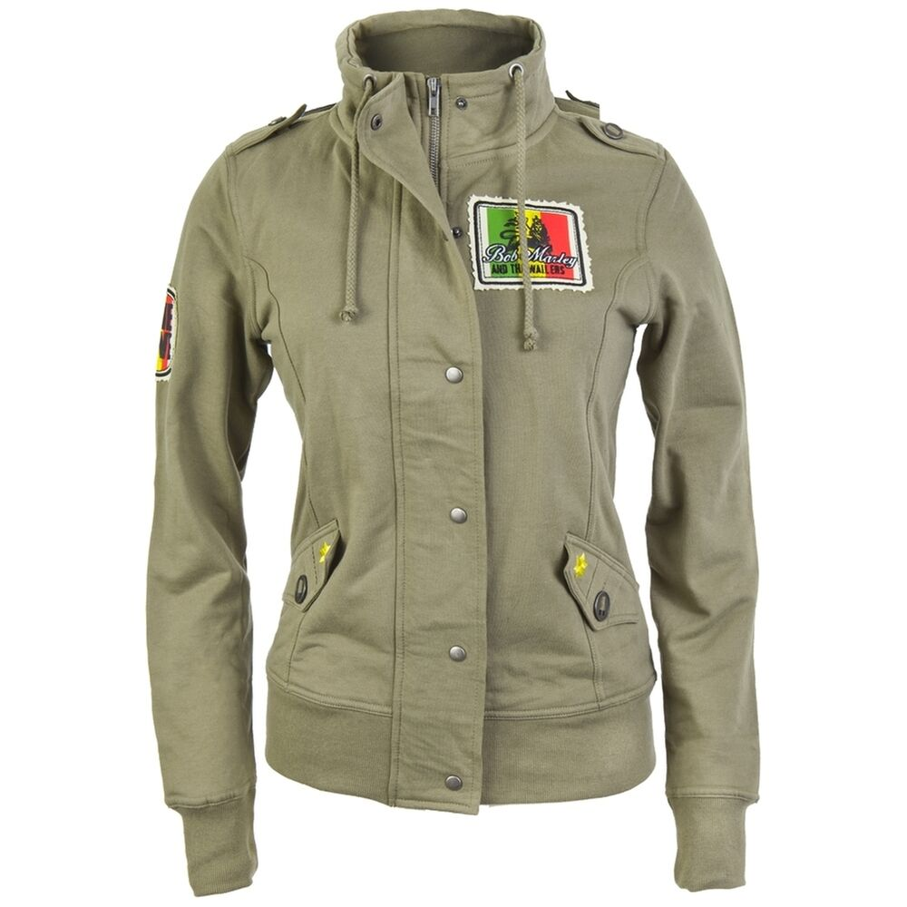 Art Wall Jr Green Jacket : Bob marley military juniors jacket