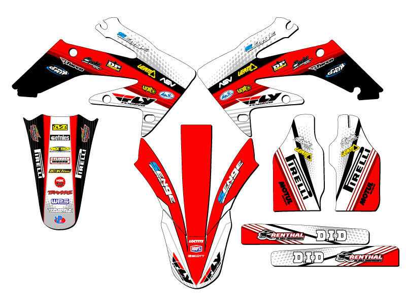 2004 2005 crf 250r graphics kit crf250r 250 r deco sticker for Stickers deco