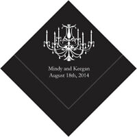 300 Chandelier Personalized Wedding Cocktail Napkins
